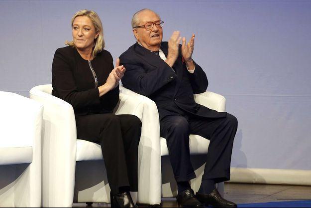 Le père et la fille réunis en avril 2015.