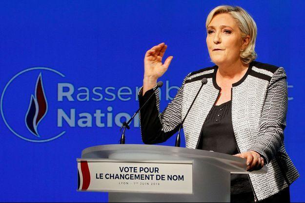Marine Le Pen à Lyon le 1er juin dernier.