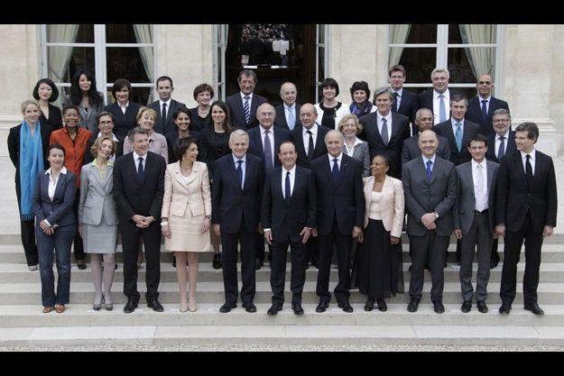 Le gouvernement Ayrault, le 17 mai dernier.
