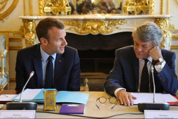 Emmanuel Macron et Jean-Louis Borloo à l'Elysée en mai 2018.
