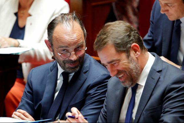 Edouard Philippe et Christophe Castaner à l'Assemblée en septembre.