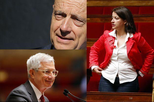 """Alain Juppé, Cécile Duflot et Claude Bartolone ont pris la défense des """"Guignols de l'info""""."""