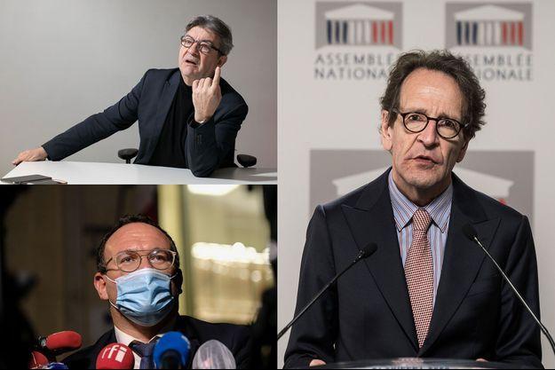 Jean-Luc Mélenchon, Gilles Le Gendre et Damien Abad.