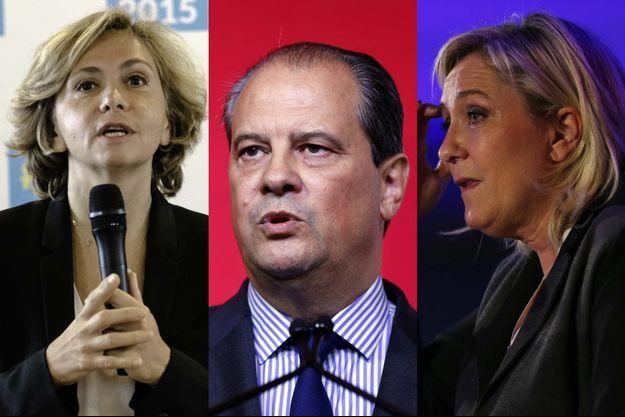 Valérie Pécresse, Jean-Christophe Cambadélis et Marine Le Pen.