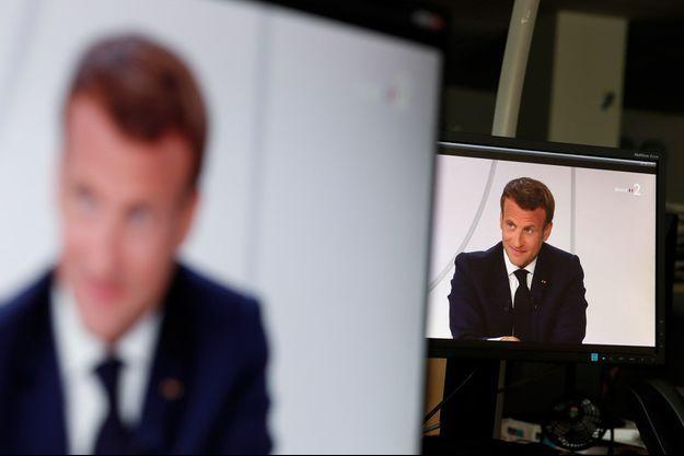Emmanuel Macron a donné une longue interview après la cérémonie du 14-Juillet.
