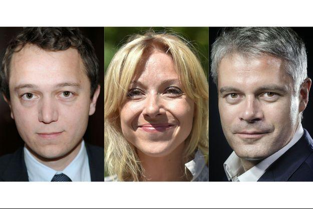 Maël de Calan, Florence Portelli et Laurent Wauquiez, les candidats en lice à la présidence des Républicains