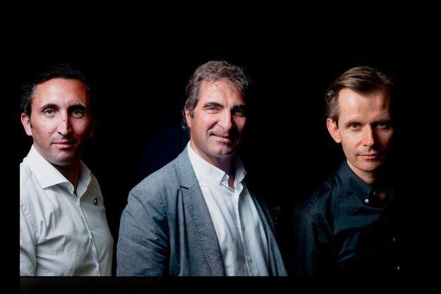 De g. à dr. : Julien Aubert, Christian Jacob , Guillaume Larrivé.