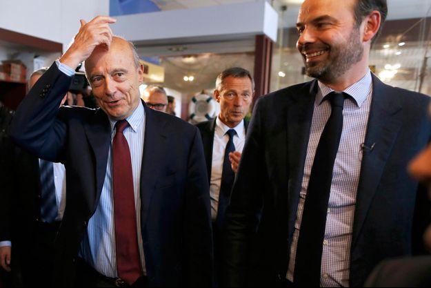 Edouard Philippe et Alain Juppé en novembre 2016, lors de la campagne pour la primaire de la droite.
