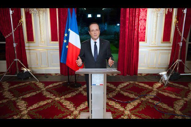 François Hollande, lundi soir lors de ses voeux.