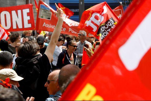 Manifestation contre la loi Travail à Marseille, le 26 mai.