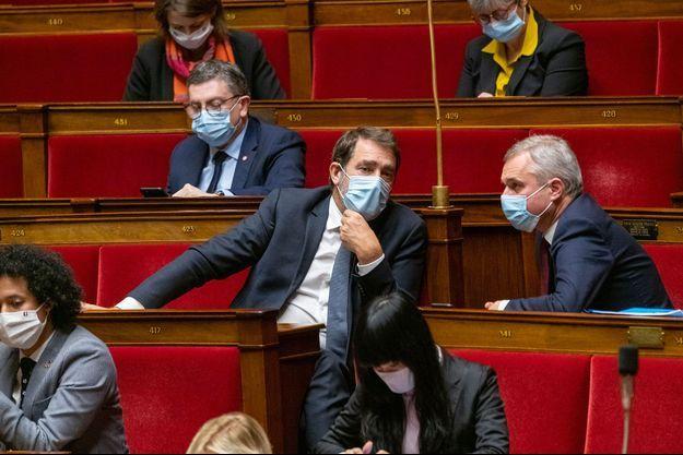 Christophe Castaner et François de Rugy à l'Assemblée nationale, le 12 janvier.