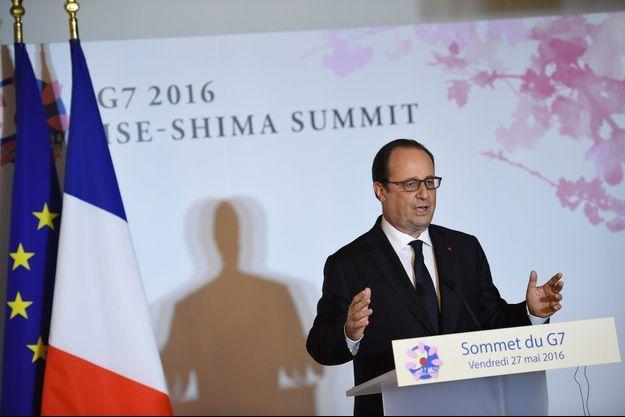 François Hollande à Ise-Shima, vendredi, au Japon.