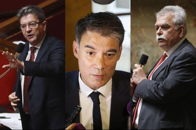 Jean-Luc Mélenchon, Olivier Faure et André Chassaigne.