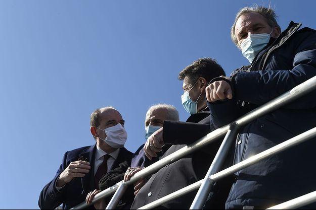 De gauche à droite, Jean Castex, Hubert Falco, Christian Estrosi et Renaud Muselier.