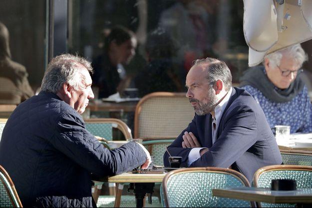 François Bayrou et Edouard Philippe, le 8 septembre à Bordeaux.