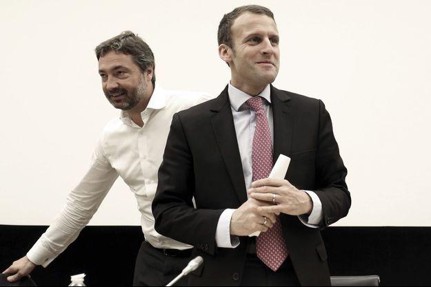 Arnaud Leroy, membre de la direction de LREM avec Emmanuel Macron.