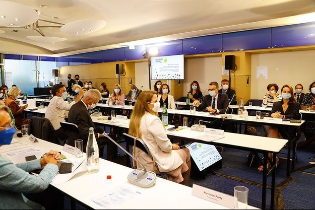 Le bureau d'exécutif de La République en marche le 20 juillet dernier, lors de la venue du Premier ministre Jean Castex.