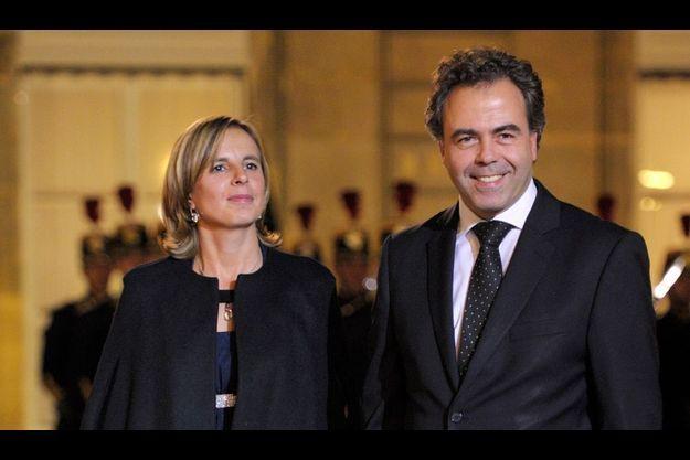 Luc Chatel et son épouse, en novembre 2010.
