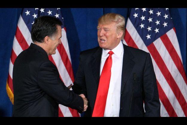 Mitt Romney et Donald Trump