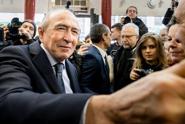 Gérard Collomb en janvier dernier, à son QG de campagne.