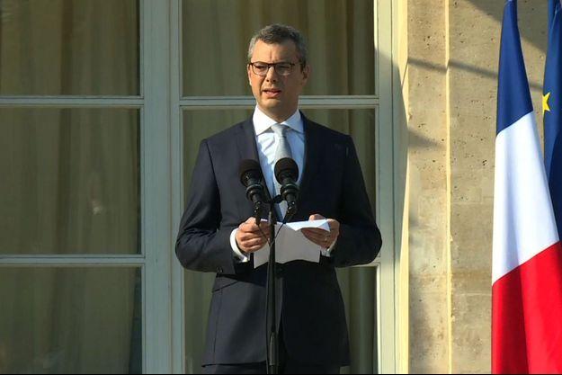 Le secrétaire général de l'Élysée, Alexis Kohler annonce la composition du nouveau gouvernement