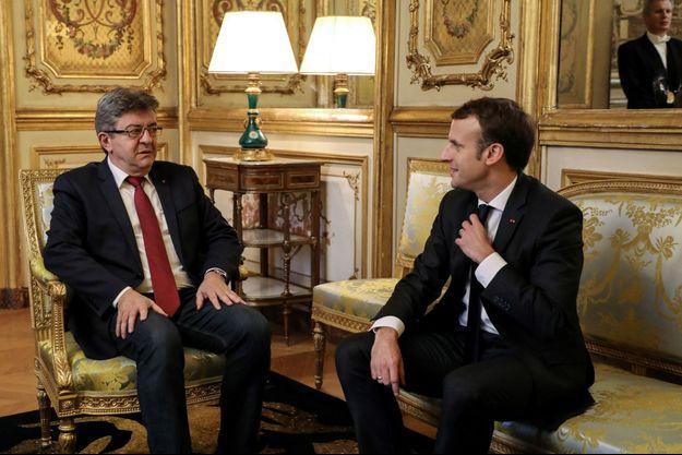 Jean-Luc Mélenchon, reçu à l'Elysée par Emmanuel Macron fin novembre.