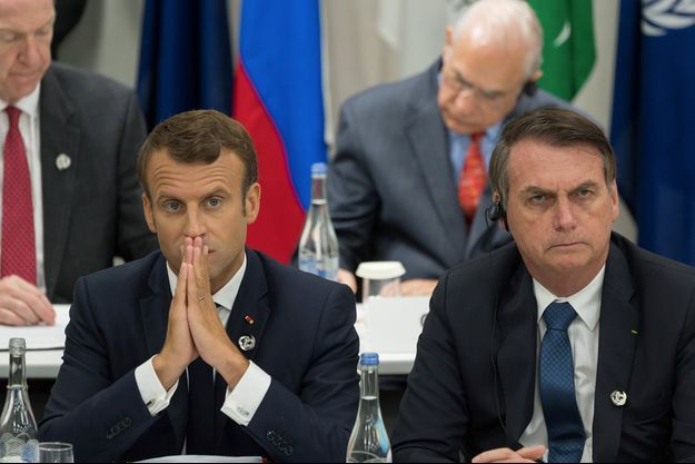 Emmanuel Macron et Jair Bolsonaro.