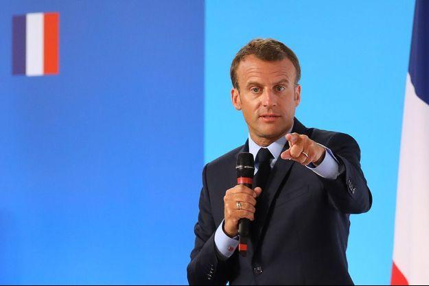 Emmanuel Macron mardi à Paris