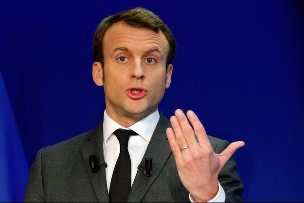 Emmanuel Macron, à son QG parisien al semaine dernière.