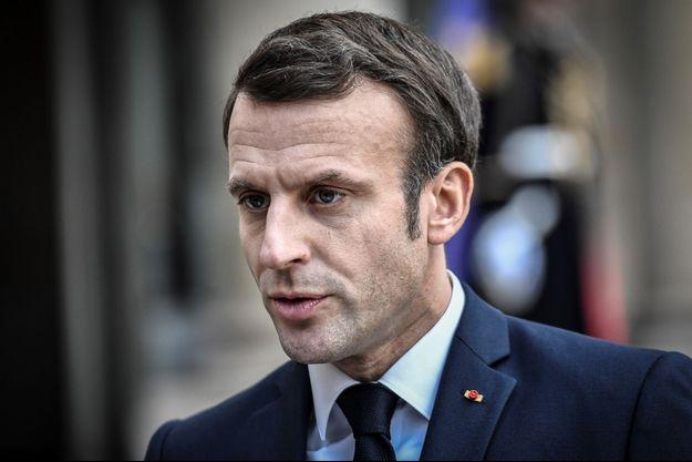 Emmanuel Macron ici à l'Elysée le 5 février.
