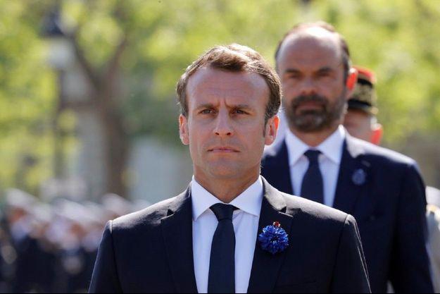 Emmanuel Macron et Edouard Philippe, le 8 mai 2018.