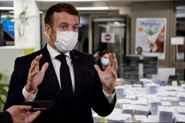 Emmanuel Macron, le 21 novembre, à Paris.