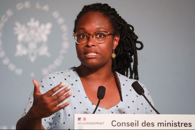 La porte-parole du gouvernement Sibeth Ndiaye., à l'Elysée fin mai.