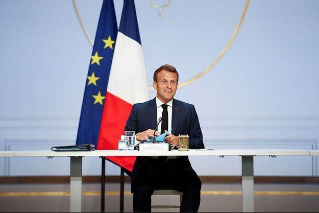 Emmanuel Macron le 4 juin 2020.
