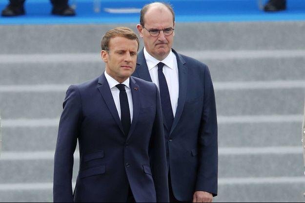 Emmanuel Macron et son Premier ministre Jean Castex, le 14 juillet à Paris.