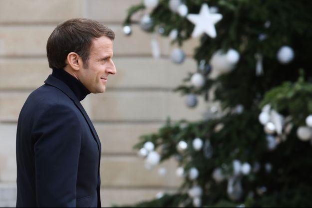 Emmanuel Macron à l'Elysée le 10 décembre.