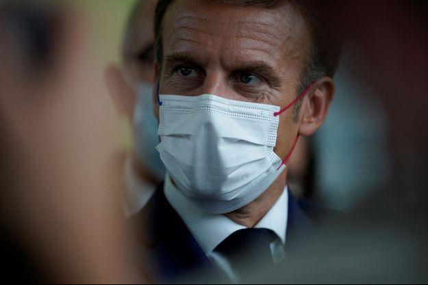 Emmanuel Macron, jeudi à Marseille.