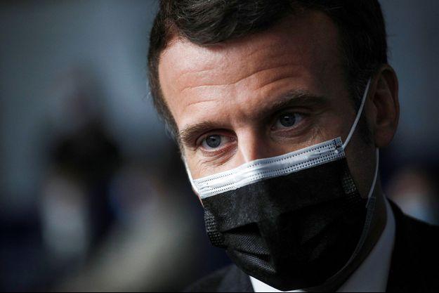 Emmanuel Macron le 23 mars 2021.