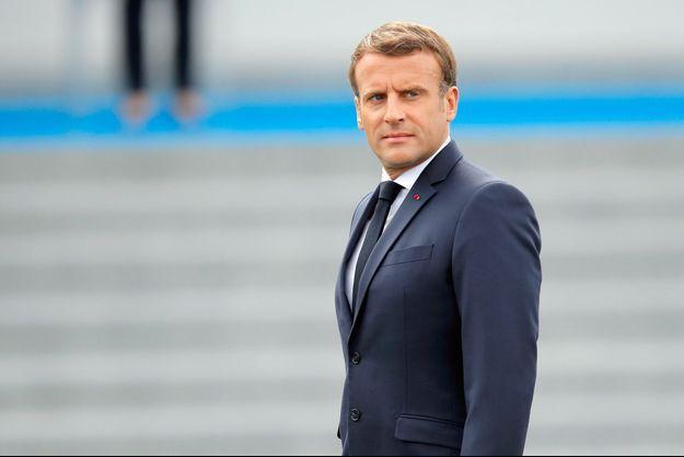 Emmanuel Macron, mardi lors de la cérémonie du 14-Juillet à Paris.