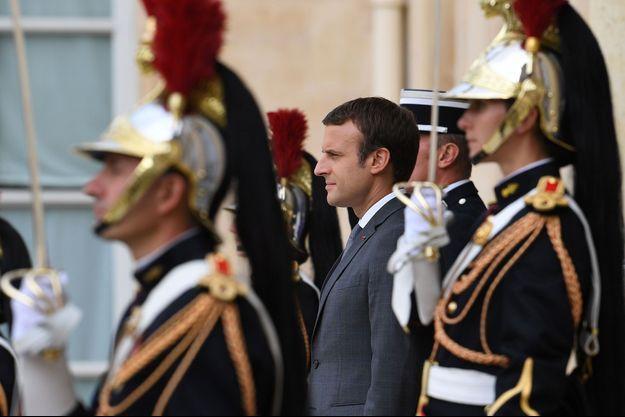 Emmanuel Macron à l'Elysée le 31 juillet.