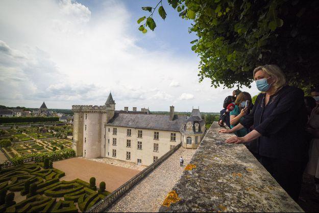 Marine Le Pen au château de Villandry, jeudi.
