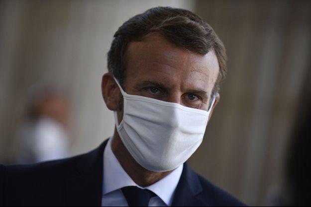 Emmanuel Macron, la semaine dernière au Pantheon.