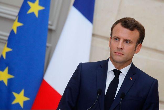 Emmanuel Macron vendredi à l'Elysée.