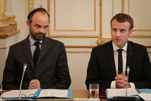 Edouard Philippe et Emmanuel Macron ici à l'Elysée an octobre 2017.