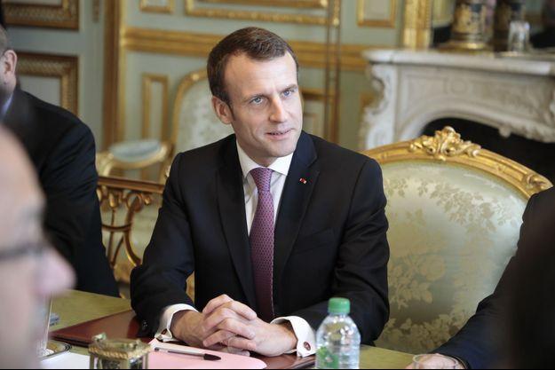 Emmanuel Macron à l'Elysée mi-février.