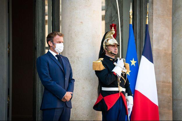 Emmanuel Macron, mardi à l'Elysée.