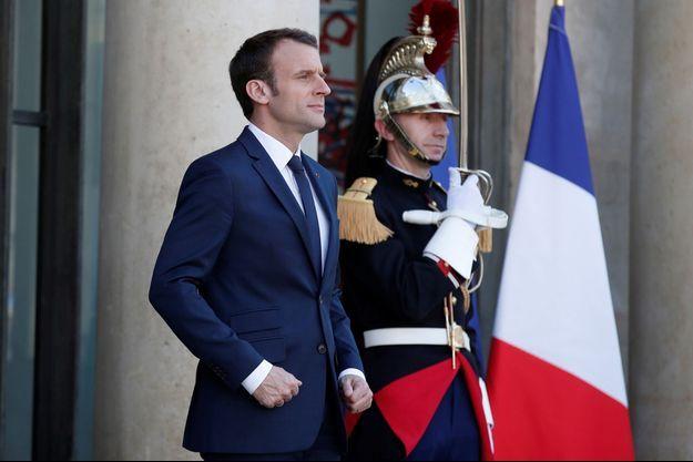 Emmanuel Macron, ici à l'Elysée en avril.