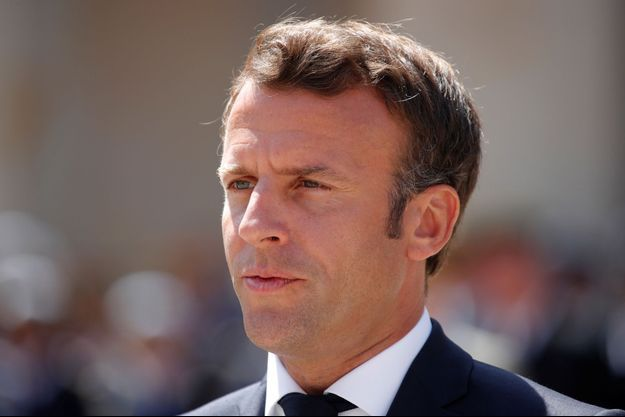 Emmanuel Macron ici aux Invalides début juillet.