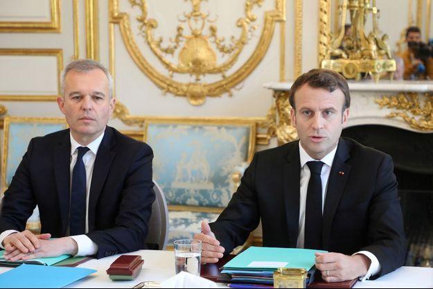 François de Rugy et Emmanuel Macron à l'Elysée en mai 2019.