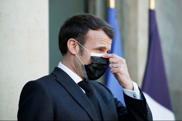 Emmanuel macron à l'Elysée le 23 mars.